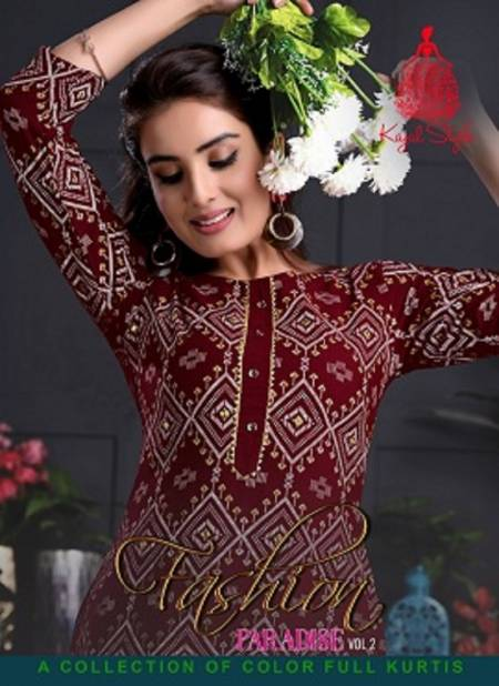 Fashion Paradise 2 Latest Fancy Ethnic Wear Fancy Embroidery Kurti With Bottom Collection