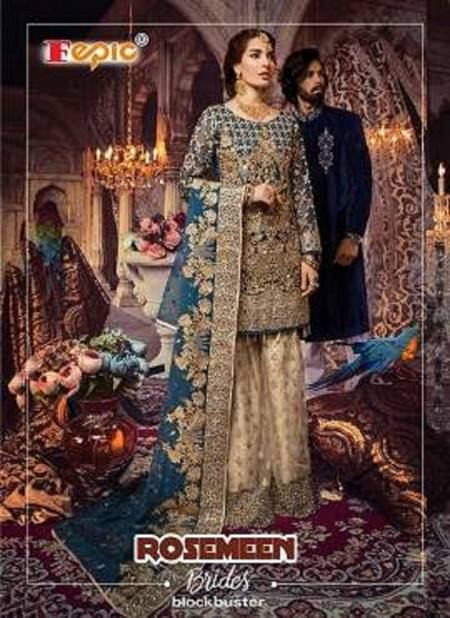 Fepic Rosemeen Brides Blockbuster Latest Heavy Designer With Heavy Work wedding Wear Pakistani Salwar Suits Collection