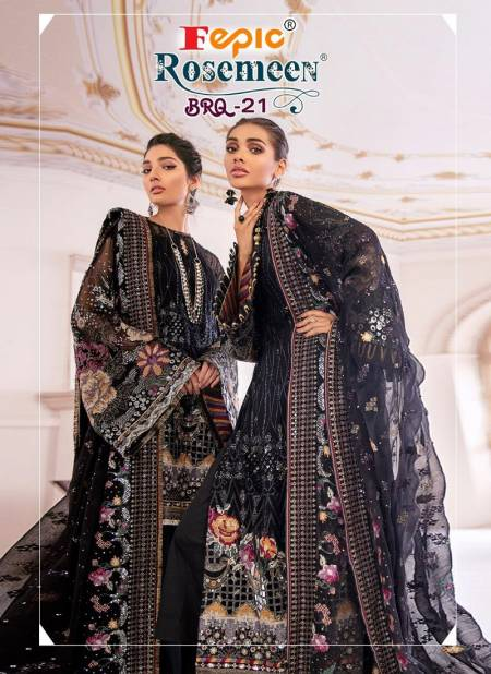 Fepic Rosemeen Brq 21 Latest fancy Designer Festive Wear Georgette Pakistani Salwar Suits Collection