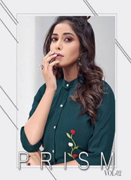 Fg Prism 2 Latest fancy designer Heavy casual Wear Western Embroidery Work Ladies Short Top Collection