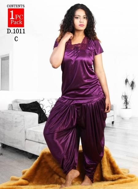 Finesta 1011 Satin Latest Hosiery Cotton Patyala Plain Western Night suits Collection