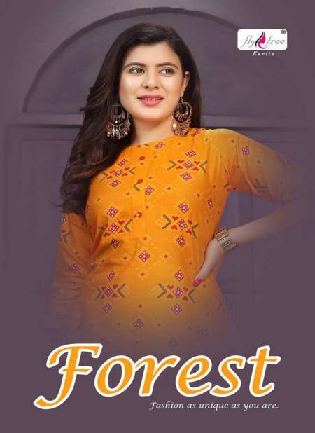 Fly Free Forest Latest fancy Designer Heavy Festive Wear Printed Fancy Kurti With Bottom Collection