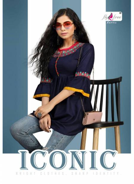 Fly Free Iconic Latest Designer Fancy Western Casual Wear Ladies Top Collection