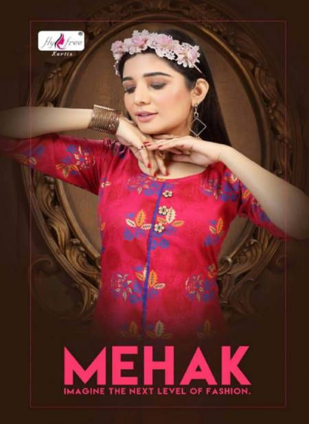 Fly Free Mehak Latest Fancy Designer Casual Wear Rayon Printed Kurti Collection