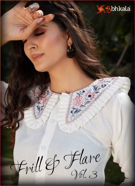 Frill And Flare 3 Exclusive Western Party Wear CottonTop With Crepe Silk Skirt Bottom Collection