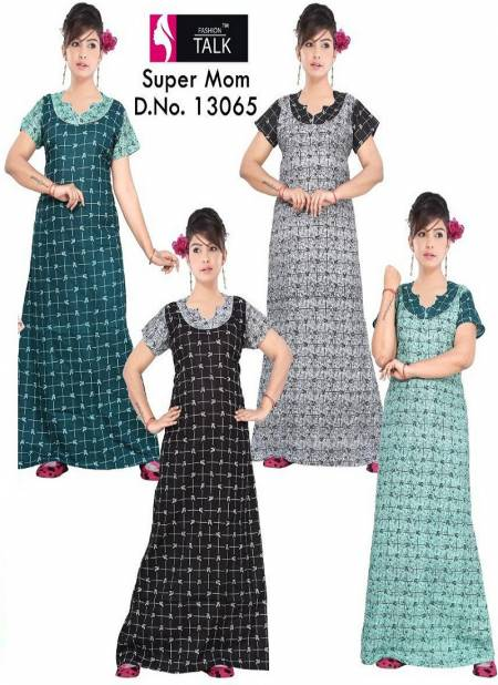Ft 13065 New Collection Of Cotton Printed Nighty