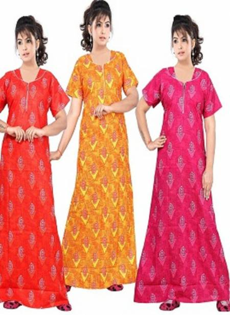 Ft 13069 New Collection Of Pure Cotton Night Wear
