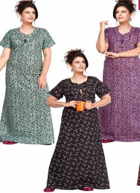Ft 13097 Pure Cotton Printed Night Wear Collection