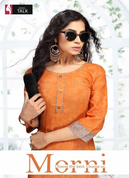 Ft Morni Latest Fancy Designer Ethnic Wear Cotton Printed Kurti With Bottom Collection