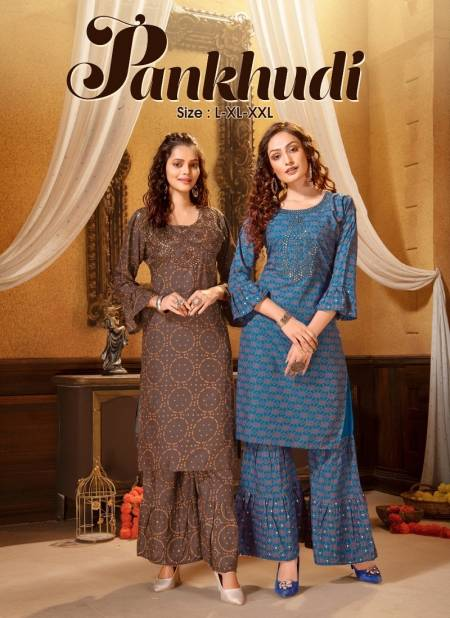 Ft Pankhudi 1 Latest Fancy Casual Wear Kurtis Collection