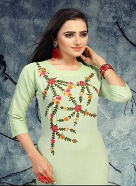 Ft Pinky Latest Fancy Designer Casual Wear Embroidery Designer Kurtis Collection