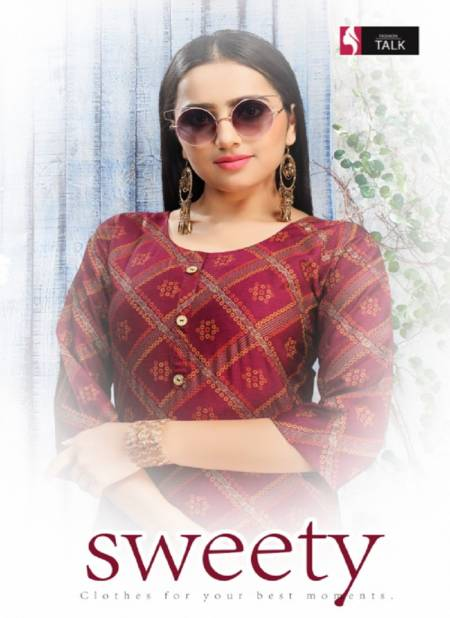Ft Sweety Rayon Latest Fancy Designer Casual Wear Kurti With Bottom Collection