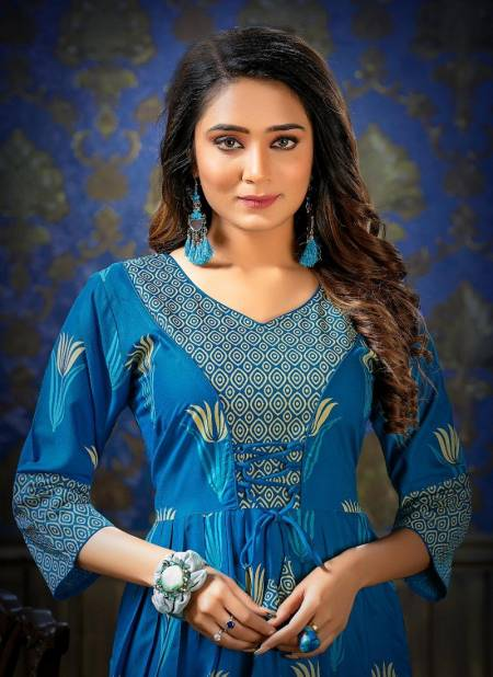 Ft Unique Style Latest Fancy Designer Heavy Rayon Printed Long Anarkali Kurtis Collection