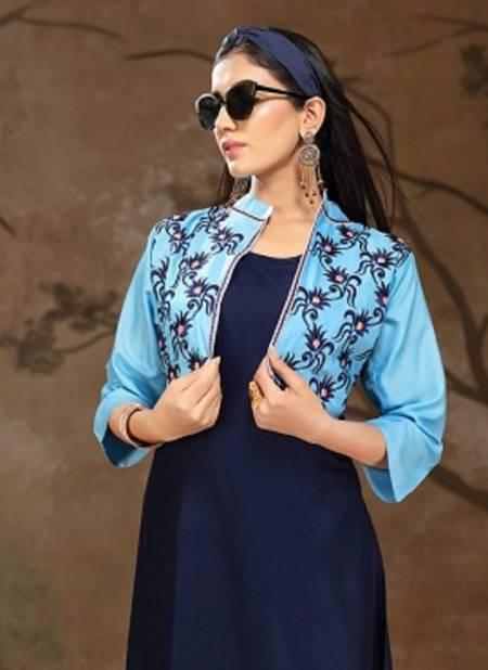 Ft Vijaya Latest Fancy Designer Ethnic Wear Rayon Jacket Designer Kurtis Collection