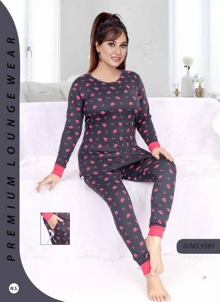 Full Sleeves Night 886 Latest Exclusive Premium Hosiery Night Suits Collection