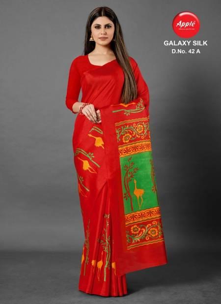 Galaxy Silk 42 Latest Designer Casual Wear Silk Saree Collection
