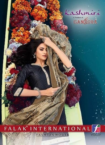 Ganesha Kashmiri 7 Fancy Regular Wear Printed Cotton Salwar Suit Collection
