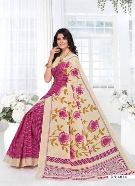 Ganesha Saraswati 4 Latest Daily Wear Pure Cotton Sarees Collection