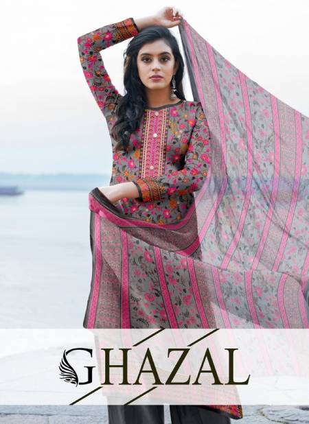 Ghazal Royal Latest Fancy Design Casual Regular WearWear Dress Material Collection