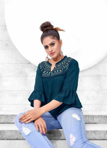 Glame Up Latest Fancy Designer Casual Wear Trendy Western Ladies Short Tops Collection