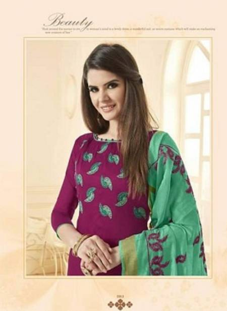 Gng Blsm 1 Latest Ethnic Wear chanderi with work Dupatta Designer cotton Dress Material Collection