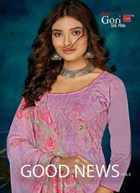 Gori Good News Vol 2 Exclusive Heavy Digital Printed Work Cotton Dress Material Collection