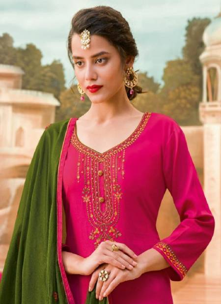 GULKAYRA DESIGNER MANNAT Latest Fancy Designer Festive Wear Jam Silk With Heavy Embroidery With Diamond Salwar Suit Collection