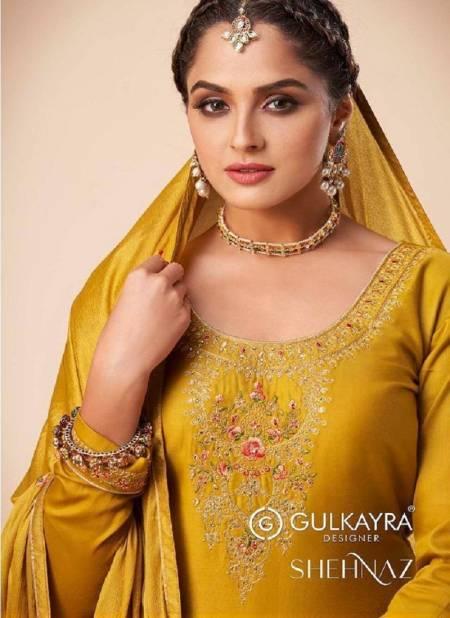 Gulkayra Shehnaaz Latest Designer Festive Wear Silk Churidar Salwar Suit Collection