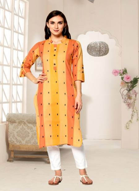 Handloom Latest Fancy Designer Regular Casual Wear Cotton Printed Kurtis Collection