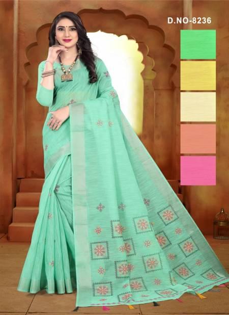 Haytee Disha 8236 Latest Handloom Cotton Worked Saree Collection
