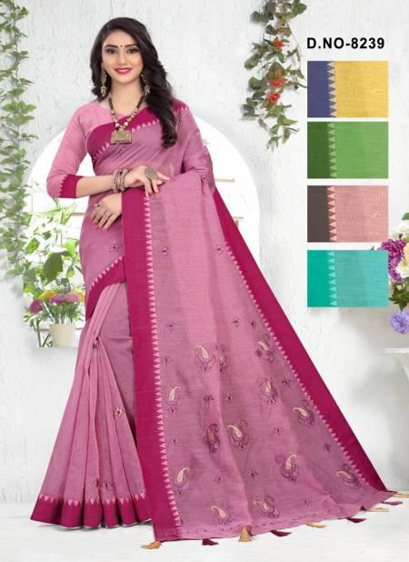 Haytee Kavita 8239 Latest Casual Wear Handloom Cotton Worked Saree Collection