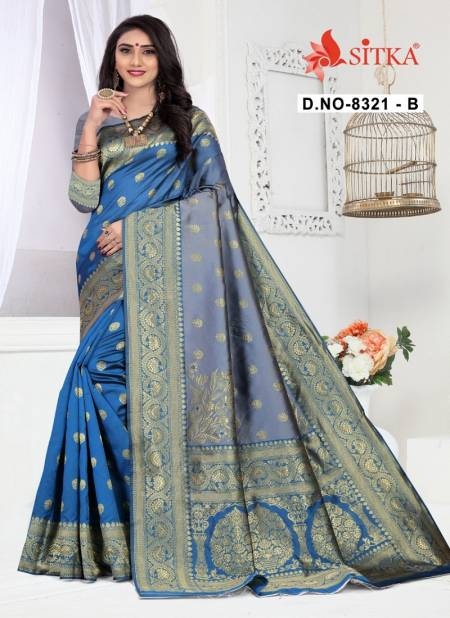 Haytee Lilly 8321 Exclusive Party Wear Festive Wear Designer Handloom Cotton Silk Saree Collection