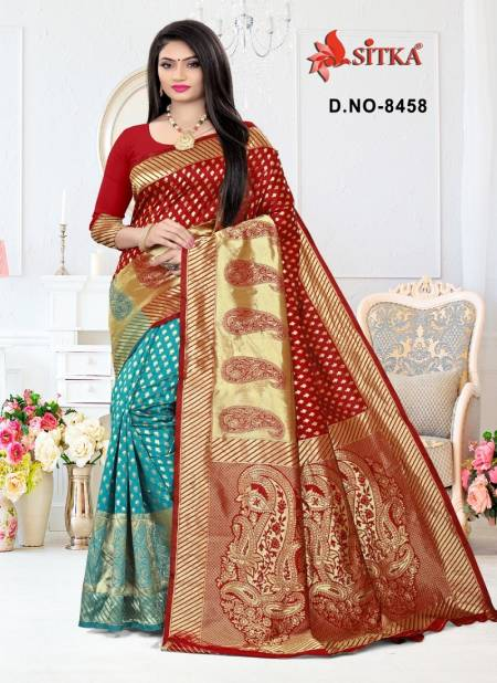 Haytee Taal 8458 New Exclusive Casual Wear Festival Wear Cotton Silk Saree Collection