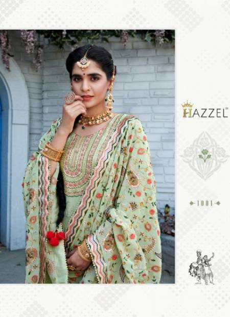 Hazzel Laung Laanchi Latest Faux Georgette Designer  Dress Material Collection
