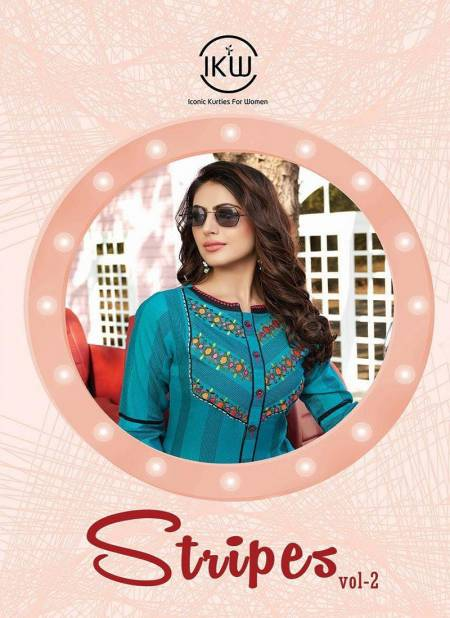 Ikw Stripes 2 Latest Exclusive Designer Casual Wear Kurti Collection