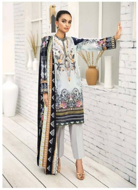 Iris 6 Latest Designer Printed Casual Wear Cotton Dress Material Karachi Dress Material Collection