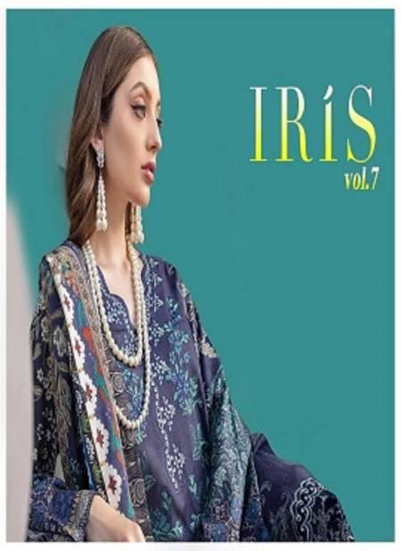 Iris 7 Ready Made Latest Designer Karachi Pure Cotton Top With Pure Cotton Mal Mal Dupatta Salwar Suit Collection