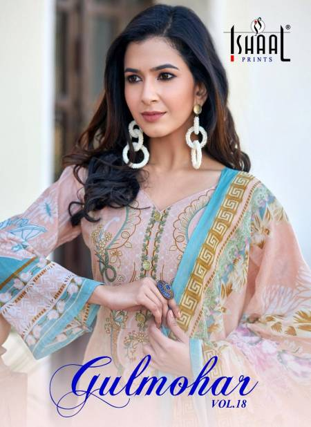 Ishaal Gulmohar 18 Latest Fancy Designer Pure Lawn Karachi Dress Material Collection