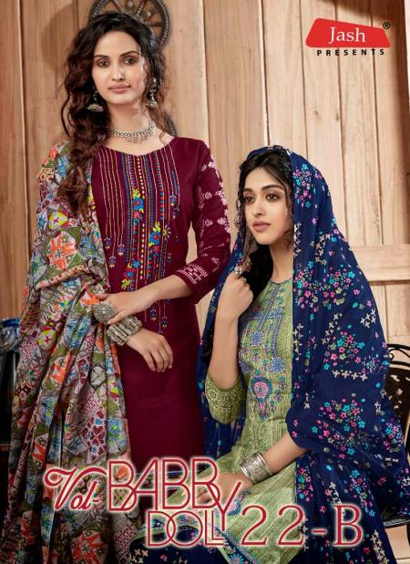 Jash Baby Doll Vol 22 B Latest Pure Cotton Printed Casual Wear Dress Material Collection