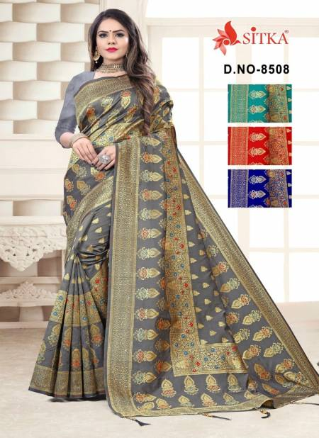 Jasmit 8508  Latest  Party Wear Cotton Silk Saree Collection