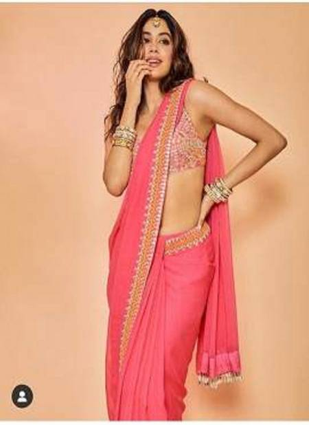 Jhanavi Colours Latest Designer Pretty Party Wear Stylish Saree Collection