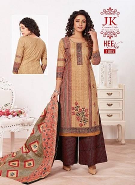 Jk Heena 18 Latest Fancy Regular Wear Printed Cotton Salwar Suit Collection
