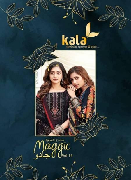 Kala Maggic 14 Latest fancy Regular Wear Pure Premium Cotton Karachi Dress Materials Collection