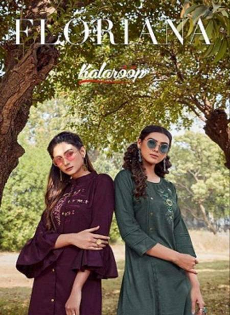 Kalaroop Floriana Latest Designer Lining Silk With Fancy Handwork Party Wear Kurti With Plazzo Collection