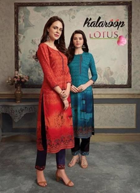 Kalaroop Lotus Latest fancy Designer Casual Wear Kurti With Pant Collection