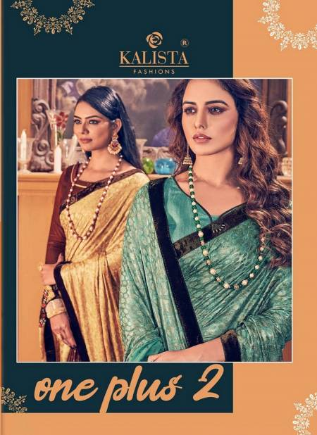 Kalista One Plus 2 Latest Designer Georgette Wedding Wear Festive Wear Embroidery Worked Sarees Collection