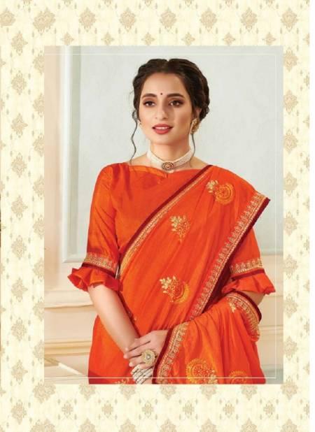 KALISTA VICTORIA Latest fancy Festive Wear Vichitra Silk Heavy Saree Collection