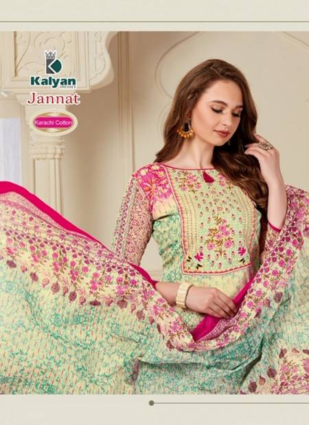 Kalyan Jannat Latest Daily Wear Karachi Printed Cotton Dress Material Collection