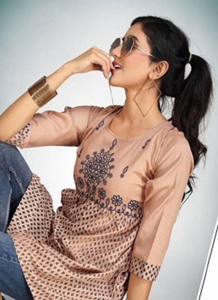 Kanasu Nestle Latest Fancy Designer Casual Wear Rayon Print Short Top Collection
