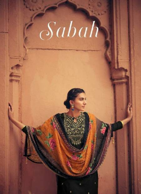 Karma Sabah 945 Muslin Embroidery Top With Pure Brazilian Silk Embroidery  Digital Print Dupatta Salwar Suits Collection